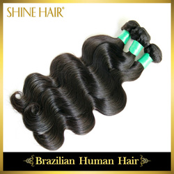 "retail 100% Brazilian virgin remy human hair extension machine weft top quality 10""-30"" body wave(China (Mainland))"