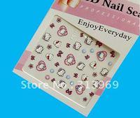 Hello Kitty Nail Sticker 3D Nail Art Nail Patch TSM12052810