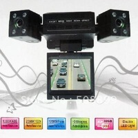 (Singapore Post)reeshipping Mini Dual Rotatable Lens Vehicle Camera Car Black Box DVR Dashboard +Dropshipping