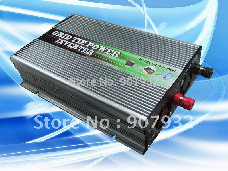 500w Grid Tie Power Inverter(500 watt, 28-52V DC input, 220V AC output, high quality, free shipping)