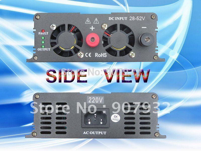 500w Grid Tie Power Inverter(500 watt, 28-52V DC input, 220V AC output) for solar panel