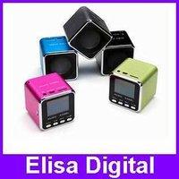 Free shipping 100% Original Music Angel Speaker,MD08 mini speaker,portable speaker,TF card speaker with FM +LCD screen,RY9005