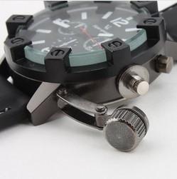 Brand New Men's Silicone Analog Quartz Wrist Watch (Black) V6 Fashionable sport watch