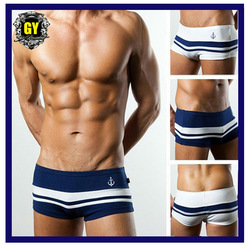 Free shipping!!2013 new fashion men's underwear/ hot sale men's boxers/low waist sex briefs blue/white 2 colors (0085)(China (Mainland))