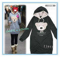 2014 thick cute carftoon baby kids hoodies winter girl boy hoody bear children clothing sweater t shirt Toddler suits 5pcs/lot