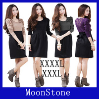 Free shipping  2014 summer  new fashion large size cotton women or girl's dress plus size women clothing skirts xxxxl
