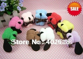 10pcs/lot Hot sale, dog towel, gift towel, cake towel, birthday gift, Christmas gifts,100%cotton, solid color, free shipping