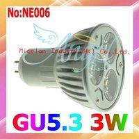 Wholesale LED Spot light  AC 90-265V 3W GU5.3 Free shipping 3 year Warranty # NE006