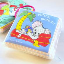 PVC Bath libro Plastic Imagen Learing Imagen para niños de 4 meses a 6 años de Agua Jugar Libros juega el envío libre del color Vivid(China (Mainland))