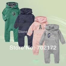 frete grátis! 2013 venda quente salto de algodão do bebê terno bonito do menino / menina macacão marca 4 cores crianças roupa por atacado e varejo(China (Mainland))