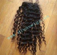 "5A quality  deep wave  brazilian virgin  hair  closure 5""by5"""
