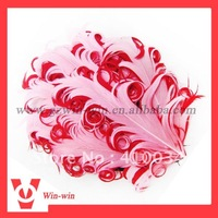 Free shipping Hot sale curly goose feather headband/head clip in mixed color +fast delivery