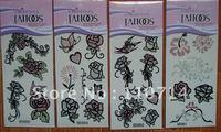 Temporary glitter Tattoos Fashion Waterproof Body Tattoo Sticker mix order (25pcs) 34desgin