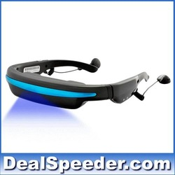 Mobile Theatre Video Glasses - Movies on 52 Inch Virtual Screen EyeWear Video Glasses With Built in 4gb memory Free Shipping!(China (Mainland))