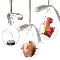 New Style, Hanging Glass Vase, Ceiling Drop Ball, Water Shape Flower Vase, Clear Vases, Wedding Decoration, Freeshipping(China (Mainland))