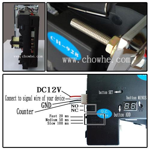 Coin Selector Usb Ch-924 Multi Coin Selector