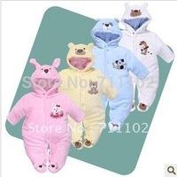NEW Baby romper newborn bobysuit hat kids jumpsuit boy girl white bear style dress Brand seino Thick warm cotton winter cute