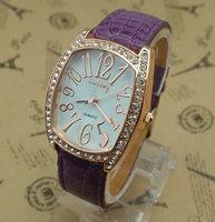 Wholesale women wristwatches ladies rhinestone  fashion leather strap quartz watch Women watches  NW39