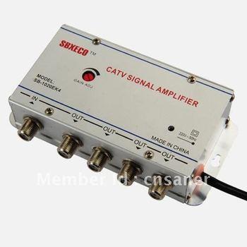 Seebest Cable TV Signal Amplifier Splitter Booster CATV amplifier 4 Output 20DB SB-1020S8/EK4