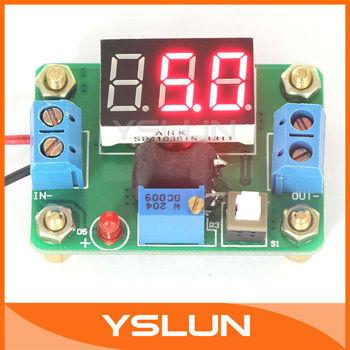 20 PCS/LOT DC to DC 4.5-24V to 0.93-20V 2A Adjustable Converter Buck Voltage Regulator with Red LED Voltmeter #090416