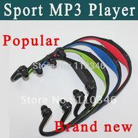 New Wireless Headset Style Sport MP3 Player Wrap Around Wireless Headphone Earphone TF Card Mp3 Music Player Freeshipping