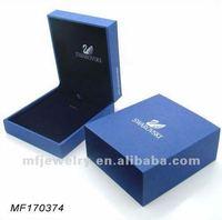 Classic Blue Velvet Necklace Earring set box Jewelry Pendant Packaging box  wedding gift box decorative luxury jewelry box