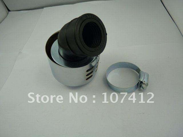 Free shipping , (AF0228CR) 28mm Universal Air Filter For Motorcycle Honda Kawasaki Suzuki Yamaha Chrome(China (Mainland))