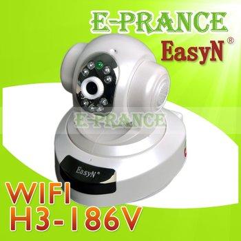 100% Original EasyN  H3-186V Security Camera Wireless P2P  Webcam 720P IP Camera with H.264+1 MP CMOS Free Shipping