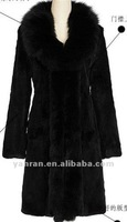 Genuine rabbit and fox fur coat for 2013 winter YR-438 ~wholesale~retail~OEM~customize