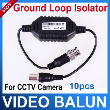10 pcs/lot Coaxial Cable Video Ground Loop Isolator Built in Video BALUN BNC Video Surveillance cctv system security accessories