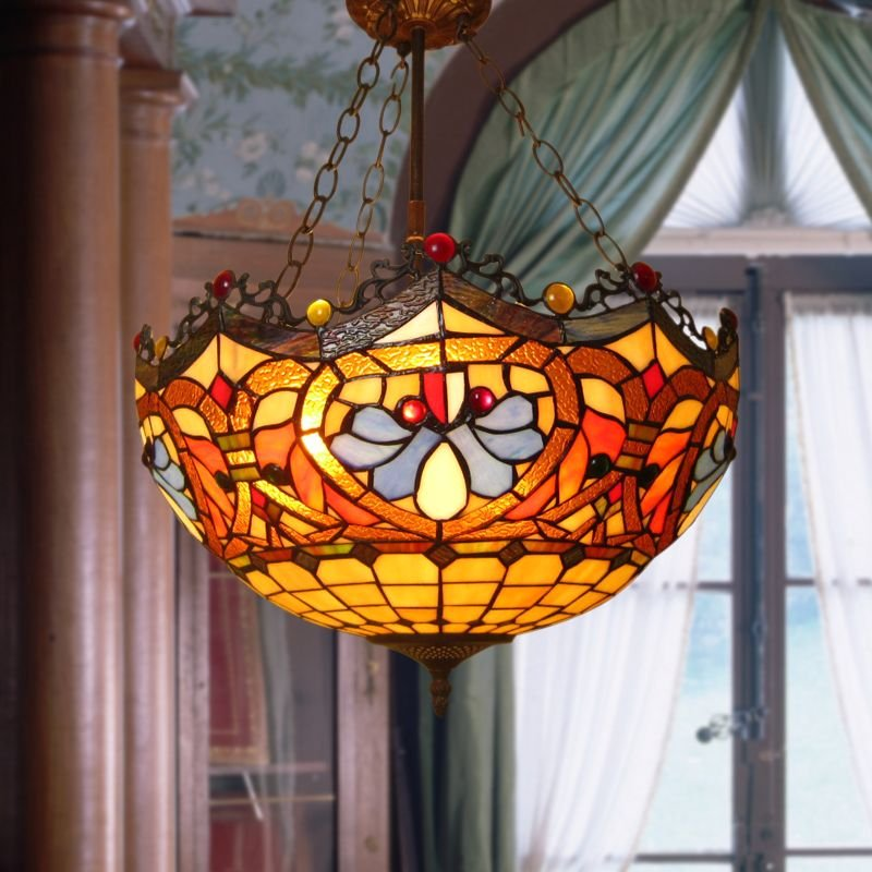 buy 30cm stained glass chandeliers table lamps. Black Bedroom Furniture Sets. Home Design Ideas