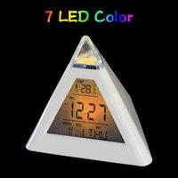 Alarm Clock Change  7 Color Pyramid LED