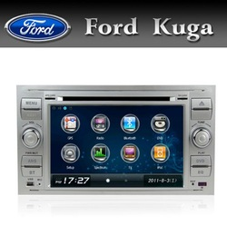 New Auto Radio for Ford Focus Kuga Transit with GPS BT TV RDS USB SD DVD CD IPOD Silver color Free shipping(China (Mainland))