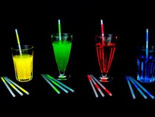 60pcs/lot 5mm*200mm bar accessories Glow straw christmas decoration Glow driking straw