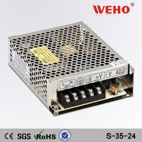 (S-35-24) 110VAC(220VAC) to 24vDC Power transformer 35w Switching power supply 24v