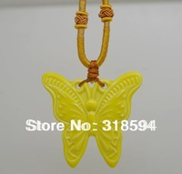 free shipping 5pcs/LOT 2013 new design quantum pendant Beautiful Butterfly Energy Pendant colorful necklace pendant
