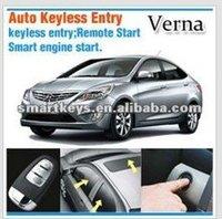 Engine start stop button Remote Keyless Start Passive Keyless entry car alarm system for Hyundai Verna