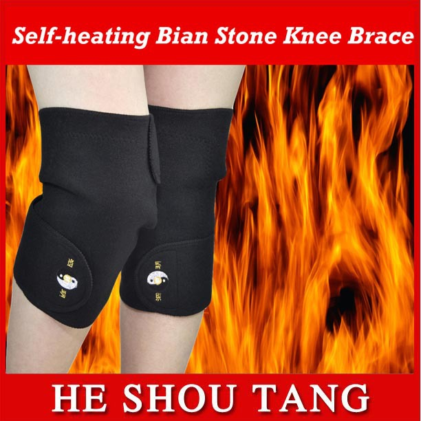 Healing knee-pads/ far infrared self-heating / warm and windproof / treat rheumatic arthritis & prevent cold leg 2pcs/ lot(China (Mainland))