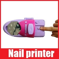 Free Shipping 7 Colors DIY Nail Art Printer Pattern Nail Polish Printing Machine with 7 Nail Polishes