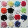 "50pcs/lot Wholesale 21 colors 2"" Mini Satin Mesh Flowers"