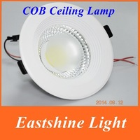 6pcs cob led downlight 3w/5w/7w/9w/12w  85-265V LED Spot light led ceiling lamp Warm White/White Downlights