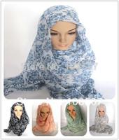 Designer 100% Viscose 10pcs/lot Hot Sale 2014 Women Apparel Accessories Floral Scarf Shawl Wrap Muslim Hijab Scarves China