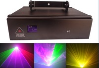 1W RGB Full Color Animation  Laser light 1000MW ILDA Stage Lighting for DJ Party Fast Shipping DMX