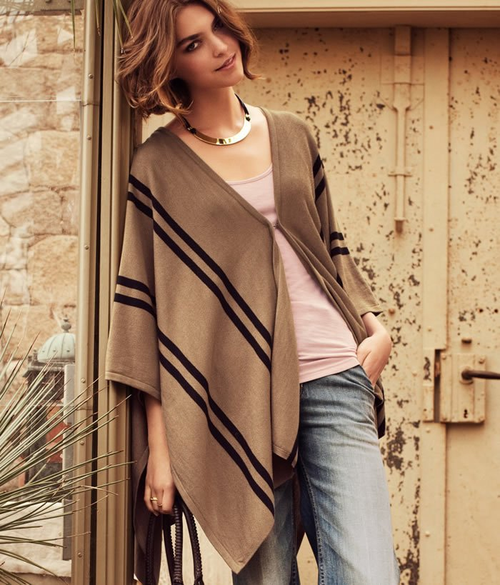 Sweater Poncho Wrap