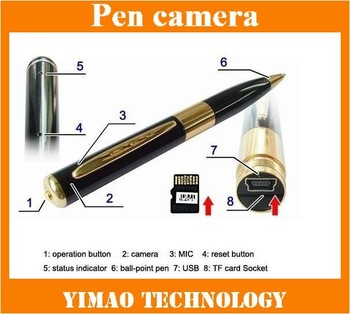 free shipping Mini Pen Dvr Pen Camera Video Recorder HD support TF card