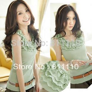 Trend Knitting The top Coat necessary universal neckline multilayer bud silk adornment condole belt vest women