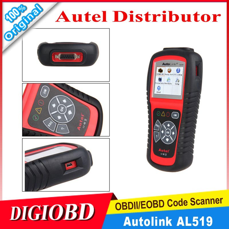 2015 Hot Sales AUTEL Autolink AL519 OBDII/CAN Car diagnostic scan tool free online update compliant US, European, Asian vehicles(China (Mainland))