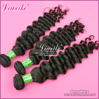 "Queen Brazilian Hair Virgin Human Hair Extension Deep Wave 3pcs/lot 12""-32"" 1B No Shedding No Tangles"