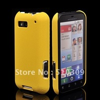 NEW HARD MESH CASE COVER FOR  DEFY MB525 FREE SHIPPING  YELLOW