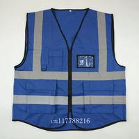 Blue Safety Vest Hi Vis Reflective Vest-Size XS S M L XL XXL 3XL 4XL
